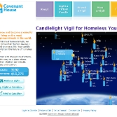 Covenant House: Virtual Vigil Candle Display