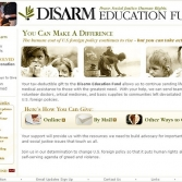Disarm: Donation Page